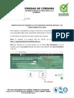 Instructivo de ingreso a plataforma saber pro 2020