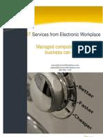 EW IT Services brochure