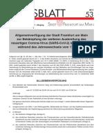 Allgemeinverfuegung der Stadt Frankfurt am Main Amtsblatt 53 gueltig fuer Jahreswechsel