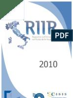 Indice del RIIR 2010-Rapporto sull'Innovazione nell'Italia delle Regioni