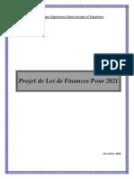 PROJET DE LOI DE FINANCES 2021