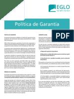 4. EGLO CERTIFICADO DE GARANTIA