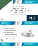 CLASE 12 - ADQUISICIÓN Y CONSERVACIÓN DE LA POSESION