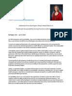 Statement From Burlington Mayor Meed Ward - Jan 8 2021