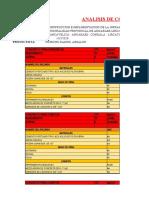 ANALISIS DE COSTOS UNITARIOS DE 5 PARTIDAS