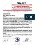 Carta Circular de Convocatoria a La II AND CENAJUPE