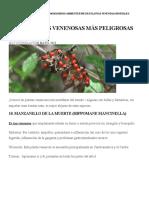 Plantas más venenosas