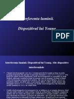 Interferenta Luminii - Dispozitivul Lui Young