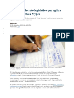 Oficializan decreto legislativo que agiliza financiamiento a Mypes