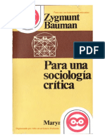 Bauman Zygmunt - Para Una Sociologia Critica.pdf