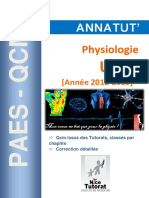 Annatut' UE3b Physiologie 2012-2013