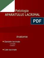 Patologia aparatului lacrimal