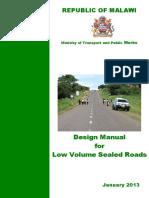 @@@ PAVEMENT DESIGN MANUAL - REPUBLIC OF MALAWI.pdf