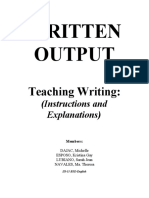 WRITTEN OUTPUT