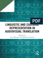 Linguistic and Cultural Representation in AVT, Ranzato, Zanotti