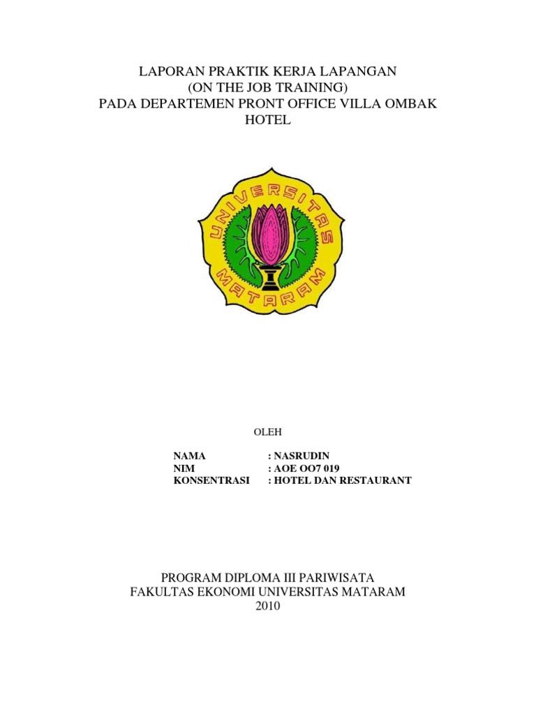 Laporan Prakerin Ibis Styles Yogyakarta Eva Smk Baitul Hamdi Menes Ba