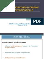 HEMOPATHIES D`ORIGINE PROFESSIONNELLE