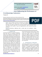 Analysis of the Factors Influencing the Performance of Crowdsourcing Contractors