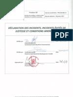 PRO-002-V1 Déclaration inc et inc évités justesse