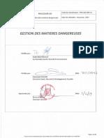 PRO-009-V1 Gestion des matieres dangereuses