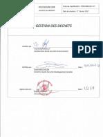PRO-021-V1 Gestion des déchets