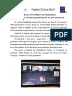 ASIGURAREA SUSTENABILITĂȚII PROIECTULUI  ,,EDUCATIONAL FOR DRONE (EDRONE) PRIN  MĂSURI ȘTIINȚIFICE