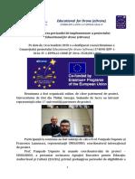 Prelungirea perioadei de implementare a proiectului Educational for drone (eDrone)