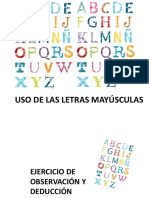 Uso de las letras mayúsculas