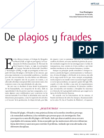 De Plagios y Fraudes