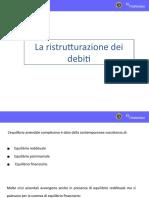 2015 la ristrutturazioned dei debiti