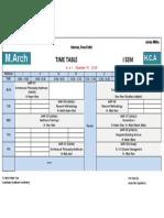 Time Table 1st sem , Session 2020-21