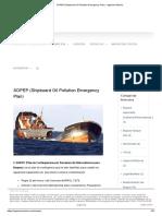 SOPEP (Shipboard Oil Pollution Emergency Plan) - Ingeniero Marino