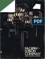McGraw-Edison Area Lighting Division Product Catalog 1972