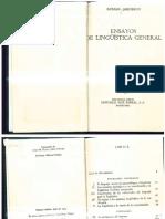 Jakobson, Roman. Ensayos de Lingüística General
