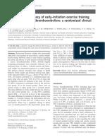 A segurança e eficácia do treinamento de exercício de iniciação precoce após tromboembolismo venoso agudo um ensaio clínico randomizado
