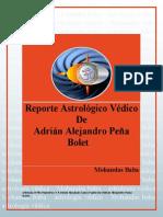 Reporte Astrologico Védico adrian Alejandro Peña Bolet
