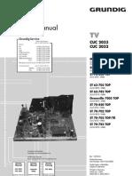 GRUNDIG  TV  - Mod ST-72-862 TOP - Chasis CUC 2033