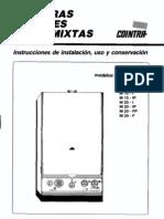 Reparación de la caldera M20L y manual de instrucciones [jcobles]
