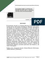 Refl exiones sobre la aptitud del desempeño docente ante la visión del sistema Educativo Bolivariano