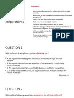 Questions préparatoires 25