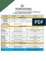 CRONOGRAMA PROCESO OFICIALES ESPECIALISTAS