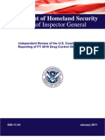 Independent Review of the U.S. Coast Guard's Reporting of FY 2010 Drug Control Obligations