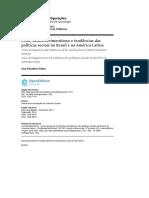 MOTA, AE. Crise, desenvolvimentismo e tendências das políticas sociais no Brasil e na América Latina