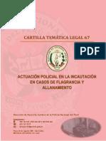 CARTILLA 67 - ACTUACIÓN POLICIAL EN LA INCAUTACIÓN