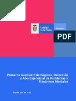 Primeros Auxilios Psicológicos, Detección
