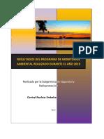Central Nuclear Embalse - Resultados del Programa de Monitoraje Ambiental 2019 - Nucleoeléctrica Argentina SA