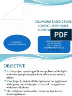 CELLPHONE BASED DEVICE CONTROL