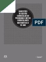 Sugestões de gestão curricular do programa e metas curriculares Matemática A - 10º Ano