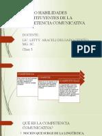 MACRO HABILIDADES CONSTITUYENTES DE LA COMPETENCIA COMUNICATIVA