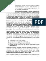 Psicologia Deportiva Etapas de Formacion [1]